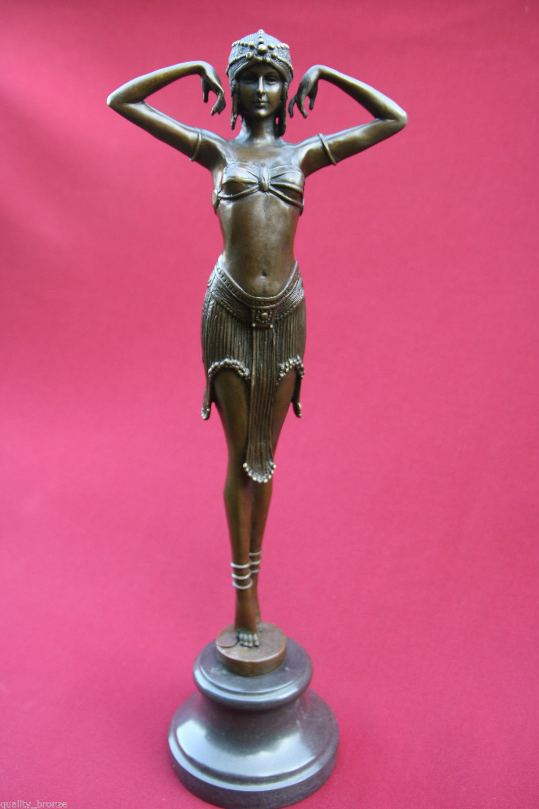 art deco chiparus illusion of virtue bronze statue. Black Bedroom Furniture Sets. Home Design Ideas